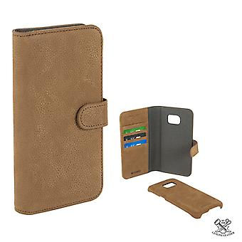 Champion Wallet Genuine Leather case Galaxy S7 EDGE Coffe Brown