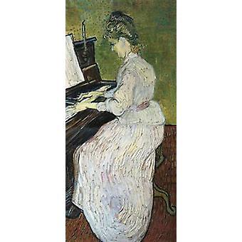 Marguerite Gachet ao piano, Vincent Van Gogh, 80x40cm