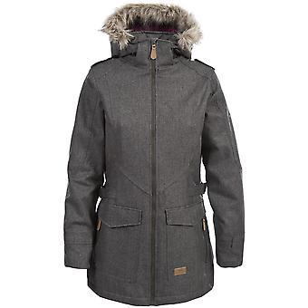 Trespass Ladies Everyday vedenpitävä pehmustettu faux Fur Trim Jacket
