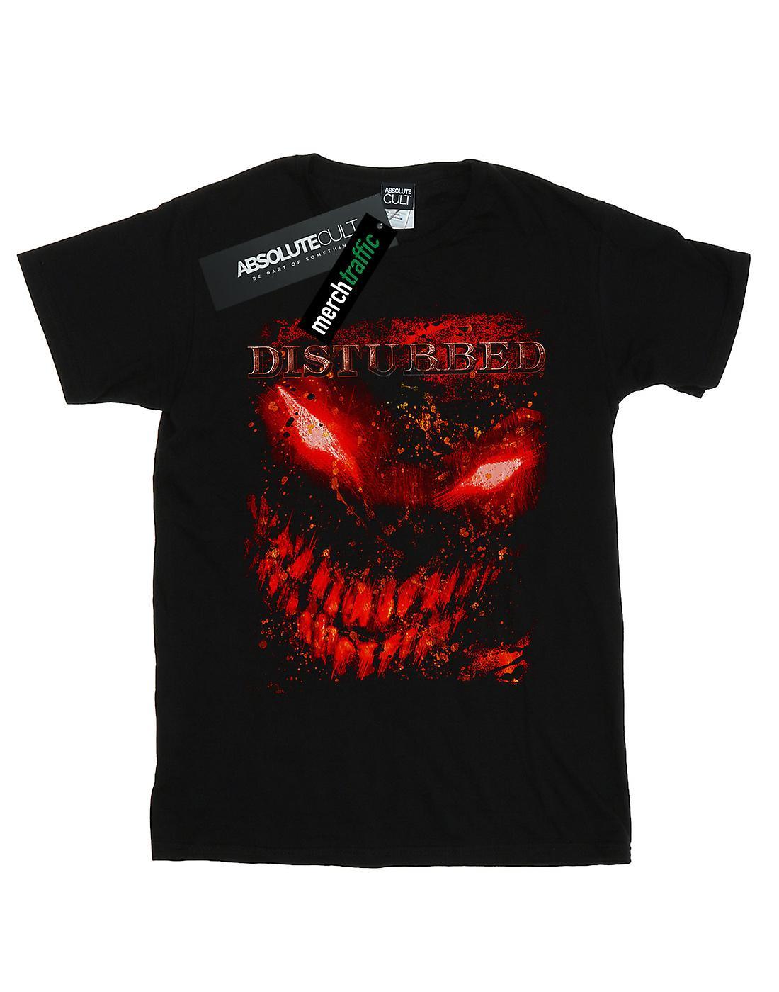 Disturbed Women's Splat Face Boyfriend Fit T-Shirt