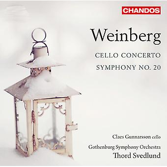 M. Weinberg - Mieczyslaw Weinberg: Concerto pour violoncelle; Symphonie n° 20 [SACD] USA import