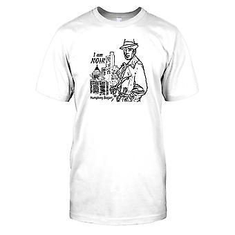 Jag är Noir - Humphrey Bogart Mens T Shirt