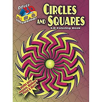 3D-målarbok - cirklar och kvadrater