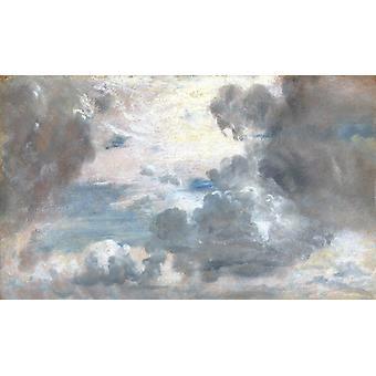 Étude en nuage, John Constable, 60x36cm
