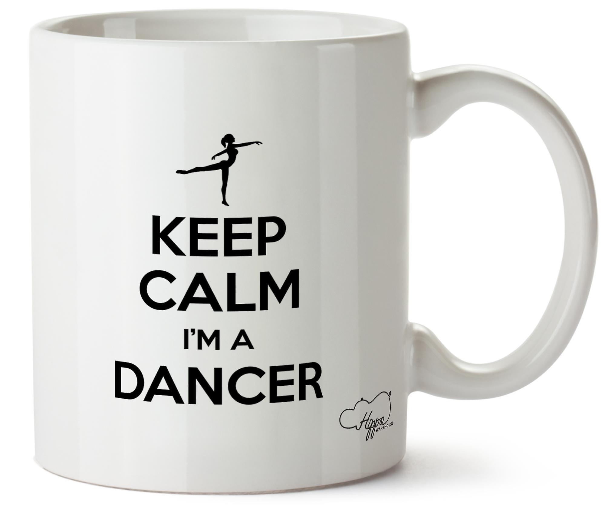 Hippowarehouse сохранить спокойствие я танцовщица напечатаны Кубка керамическая кружка 10oz