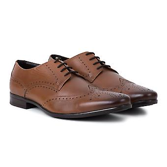 Mens tan derby brogue