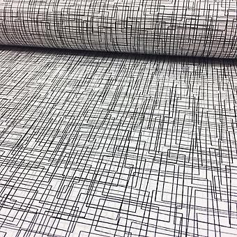3D Effect Maze Matrix Lines Wallpaper Metallic Luxury Modern Circles Rasch White/Silver/Black