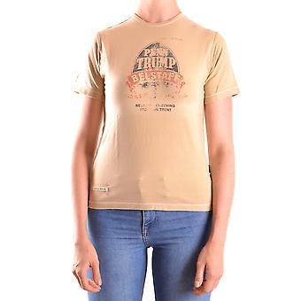Belstaff Ezbc102009 Women's Beige Cotton T-shirt
