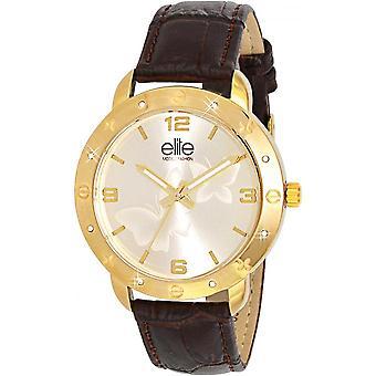 Elite E54042G-102 - watch Leather Brown woman