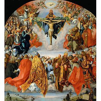 The All Saints altarpiece,Albrecht Durer,50x45cm