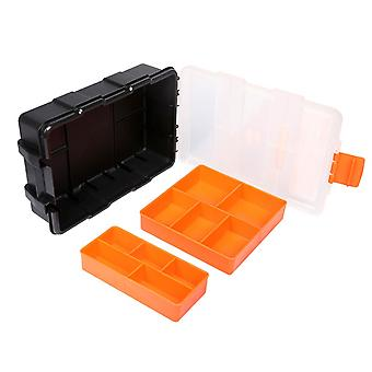 Jakemy storage box plastic 10 compartments Orange