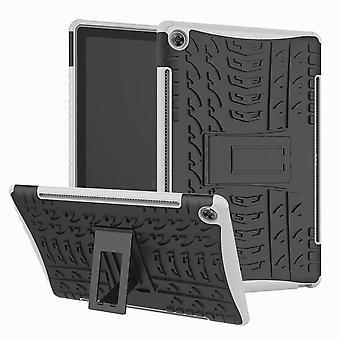 For Samsung Galaxy Tab A 10,1 T510/T515 2019 hybrid utendørs beskyttende etui hvit pose deksel