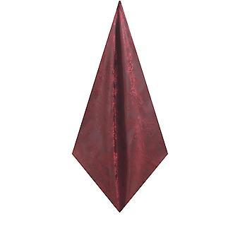 Dobell mens Bourgondië zak vierkante zakdoek Paisley patroon bruiloft accessoire