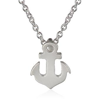 Dogeared Reminder Friendship Anchor Silver Chain Necklace - MS1189