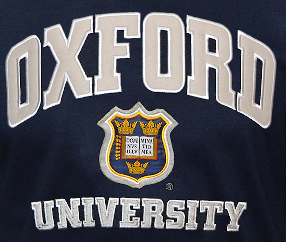 Unisex oxford university™ applique embroidered t shirt navy