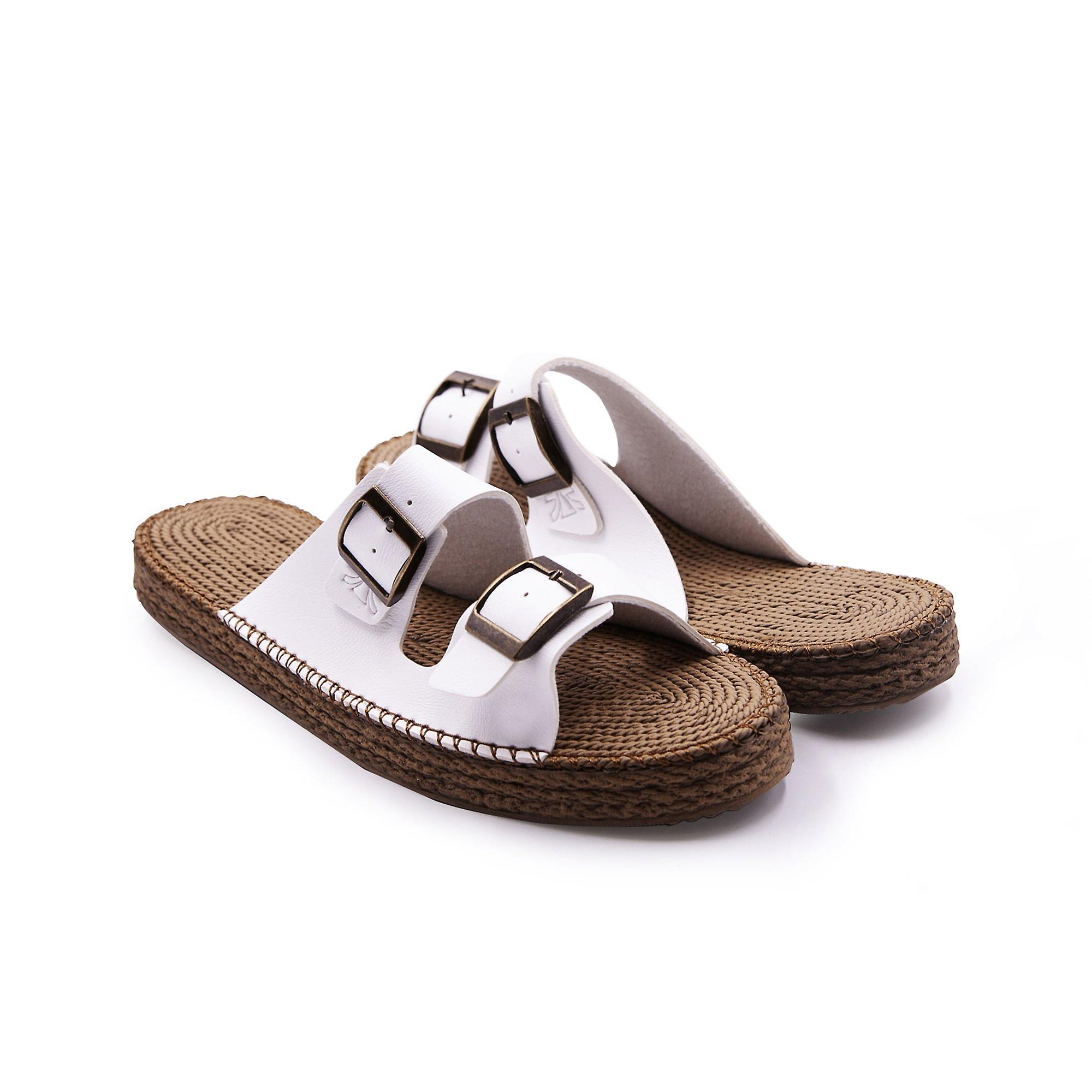 Sunday morning white sandals