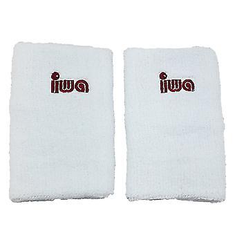 IWA Schweissband-Paar für Turnriemchen, breit, weiss