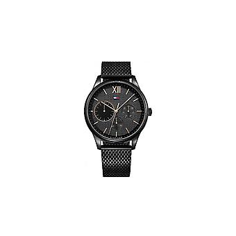 Tommy Hilfiger Black Stainless Steel Mesh Hommes Montre 1791420