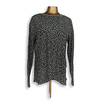 Anybody Women's Sleep Shirt Loungewear Cozy Knit Waffle Print Gray A345787