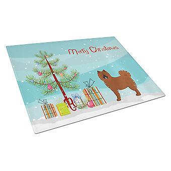 Eurasier or Eurasian dog Christmas Tree Glass Cutting Board Large
