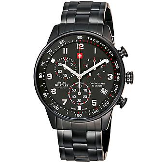 Swiss Military Quartz Analog Man Watch with SM34012.04 Stainless Steel Bracelet