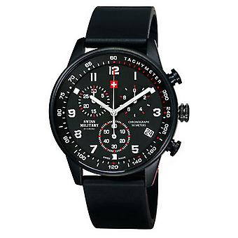 Swiss Military Quartz Analog Man Watch with SM34012.09 Rubber Bracelet