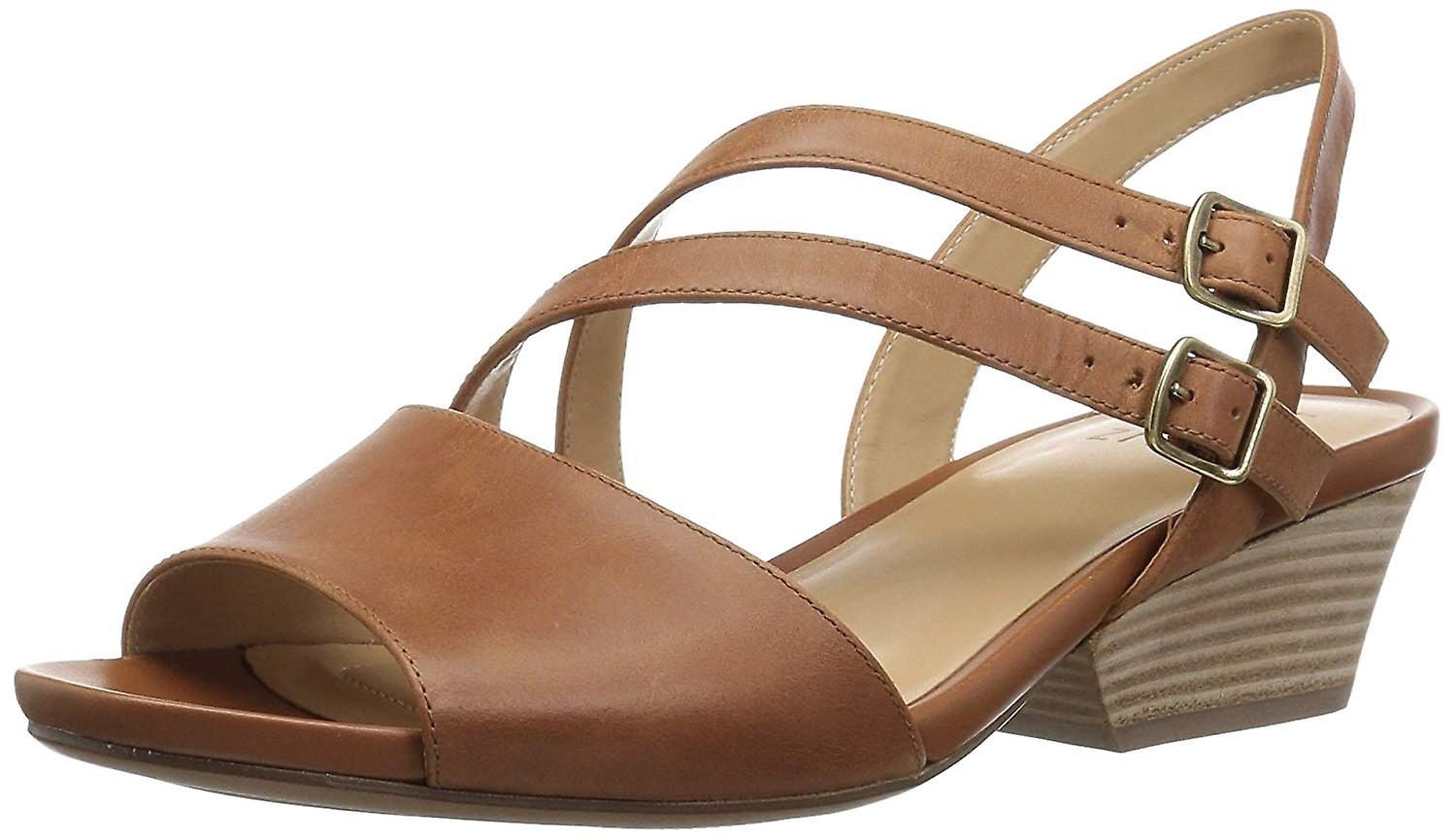 Naturalizer Womens GIGI Leather Open Toe Casual Ankle Strap Sandals