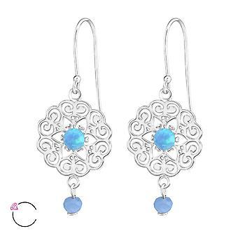 Bloem Crystal van Swarovski®-925 sterling zilveren oorbellen-W36810X