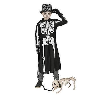 Puku Skeleton lasten takki Halloween kauhu karnevaali lasten puku Pierro