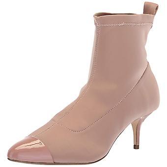 Nanette Lepore Womens Nala Fabric Cap Toe Ankle Fashion Boots
