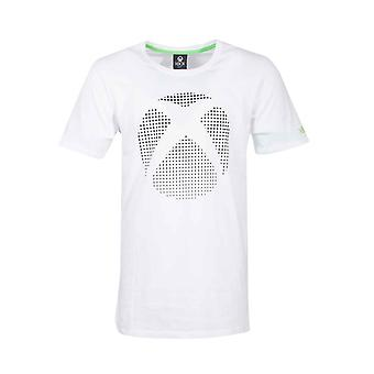 Xbox T Shirt Dot Controller Logo neue offizielle Gamer Herren weiß