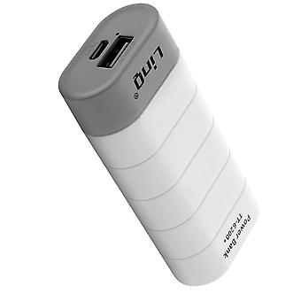 LinQ Universal Backup Battery Charger External USB 1A 6000mAh White and Gray
