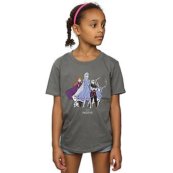 Disney Girls Frozen 2 Distressed Group T-Shirt