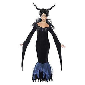Costume da donna Lady Raven Halloween Fancy Abito