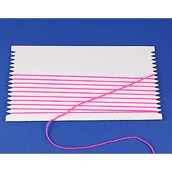 10 Pack 28cm Rectangle Thick Card Weaving Looms