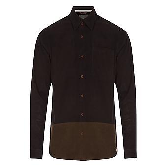 Hymn Aspen Black Cord Colourblock Shirt Black