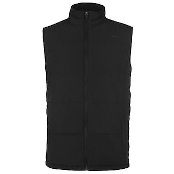 Slazenger Mens Gents Full Zip High Neck Sleeveless Padded Gilet Vest Top