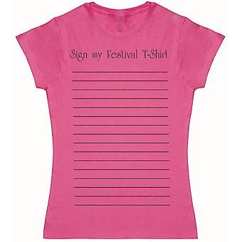 Sign My Festival T-Shirt - Womens T-Shirt