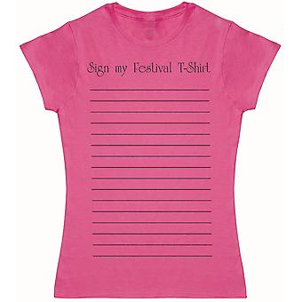 Sign My Festival Camiseta - Camiseta para Mujer
