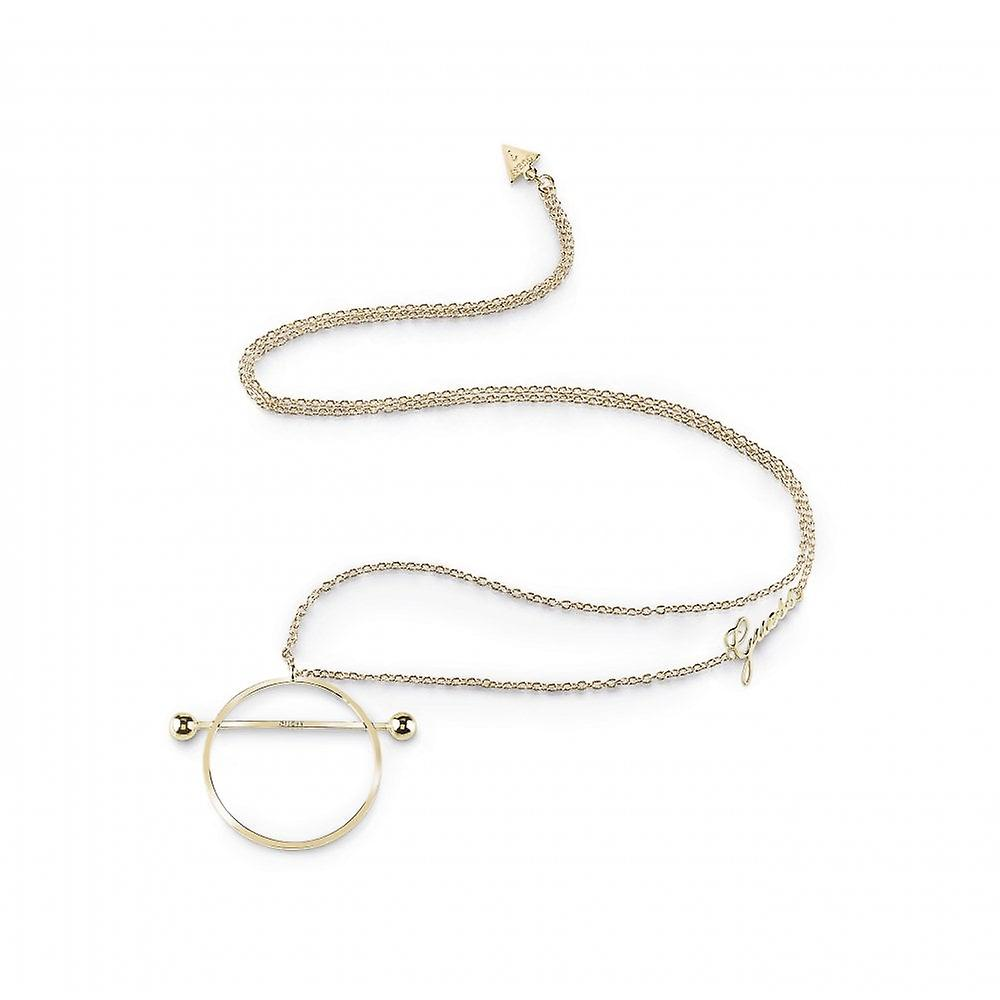 Guess Jewellery Guess Gold Plated Circle And Bar Long Necklace UBN85038