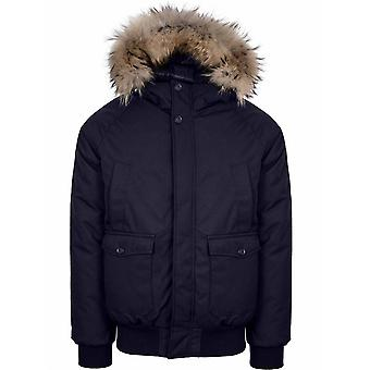 Pyrenex Pyrenex Navy Mistral Fur Jacket