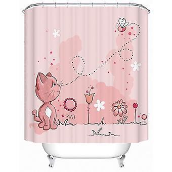 Pinkish Kitten Shower Curtain