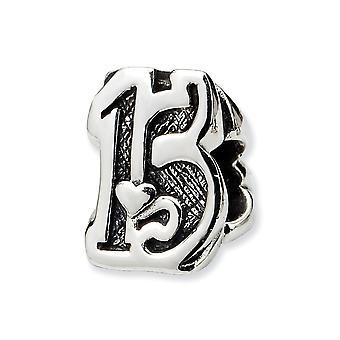 925 Sterling Silver Gepolijste afwerking Reflecties Sweet 15 Bead Charm Hanger Ketting Sieraden Cadeaus voor vrouwen