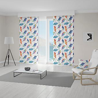 Meesoz Curtain - Water Painted Feathers