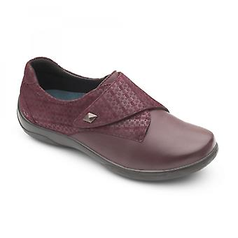 Padders Viola Ladies Leather Extra Wide (2e/3e) Shoes Plum
