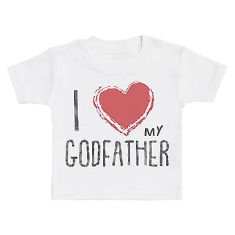 I Love My GodFather Red Heart Baby Camiseta