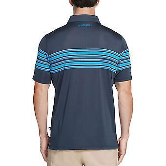 Skechers Golf Mens Club Face Stripe Stretch Performance Polo Shirt Top