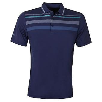 Callaway Mens Golf Birdseye Chest Stripe Polo Shirt