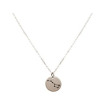 Constellation necklace Big bear, large cart in 925 silver, gold plated, rose