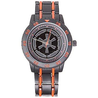 Star Wars Empire Logo Watch Avec Red Accented Metal Band